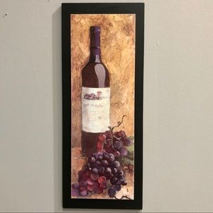 Painted wine and grapes wall art